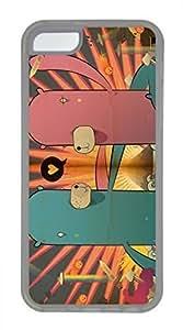 linJUN FENGiphone 5/5s case, Cute Monster Love iphone 5/5s Cover, iphone 5/5s Cases, Soft Clear iphone 5/5s Covers