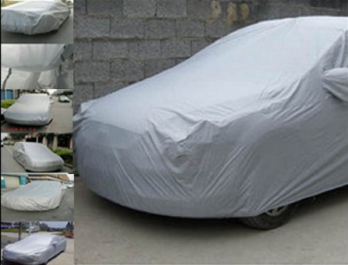 """Excellent Silver Full Car Cover Protector Sun UV Protective Dust Moist XL Extra Large Size 5x1.85x1.5m (196""""x73""""x59"""") +(US Local Shipping)"""