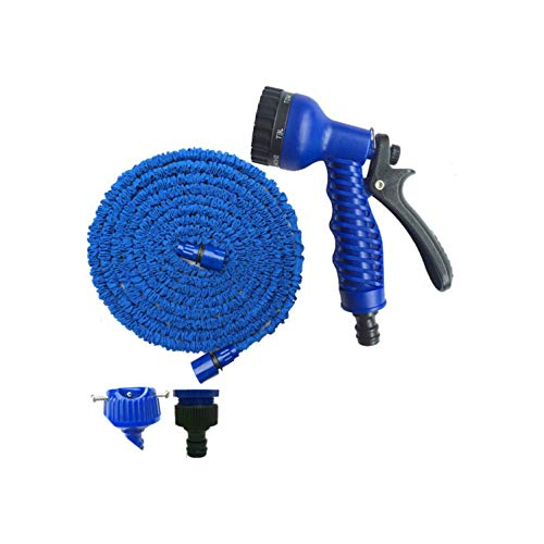 Garden Hose 25-150FT Expandable Flexible Garden Water Hose Set for Car Hose Pipe Plastic Hoses to Watering with Spray Gun,150FT,C01