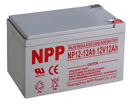 12ah Sealed Lead Acid Battery (NPP 12V 12 Amp NP12 12Ah Rechargeable Sealed Lead Acid Battery F2 Style Terminals)