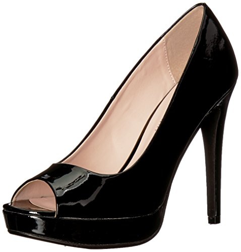 Leather Peep Toe Platform Pump - 4