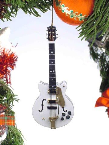 White Falcon Electric Guitar Music Instrument Replica Christmas Ornament, 5 inch -
