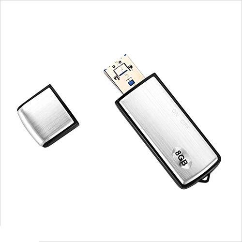 ZCP Pequeña Grabadora USB, Unidad Flash USB/Pen Drive USB, Conferencia De Lectura De 8GB para PC Mac, Grabadora De Audio...