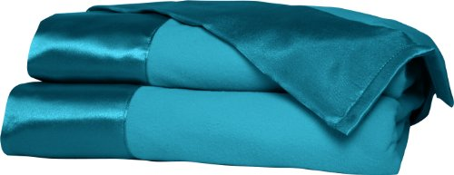Shavel All Seasons Year Round Sheet Blanket with Satin Hem, Twin, Teal