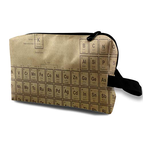 - Periodic Table Of The Elements Number Makeup Pouch Cosmetic Storage Bag Make Up Bags