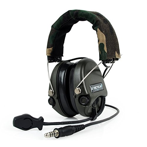 ATAIRSOFT Z-Tactical Z111 Sordin Style Noise Cancellation Ptt Wargame Hunting Headset Headphone for Military Radio (Helmet Style Pin)
