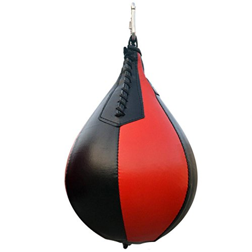 Fansport Boxing Speed Bag, Punch Bag Pear Shape Swivel Punching Speed Bag for Fitness Workout Training