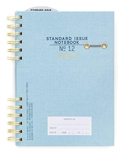 DesignWorks Ink Standard Issue Split Twin-Wire Bound Personal Journal, Blue