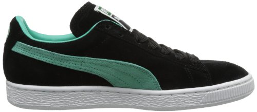 Puma Volwassen Suede Classic Schoen Zwart / Elektrisch Groen
