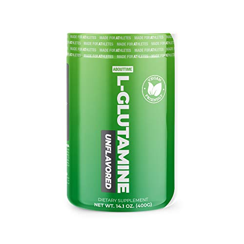 About Time L-Glutamine,50 Servings - Muscle Function & Recovery Formula, Free-Form Amino Acid, Zero Sugars, Zero Calories, Zero Fat