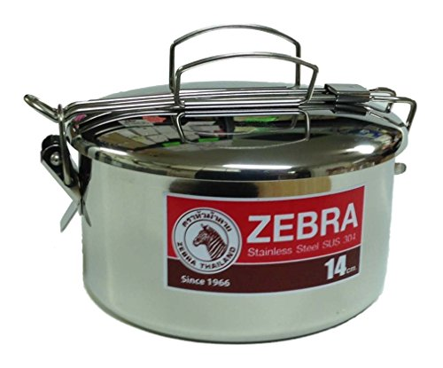 Zebra-152314-Stainless-Steel-Food-Box-and-Pan-with-Snap-on-Lid-14cm-Silver