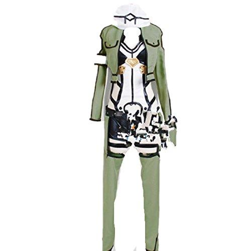 Asada Shino Costume (Sword Art Online II Shino Asada Sinon outfit cosplay costume)