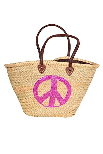 En Multicolore Fushia Motif Osier Peace Monpetitbikini Avec Sequins Panier 5OqCxA08