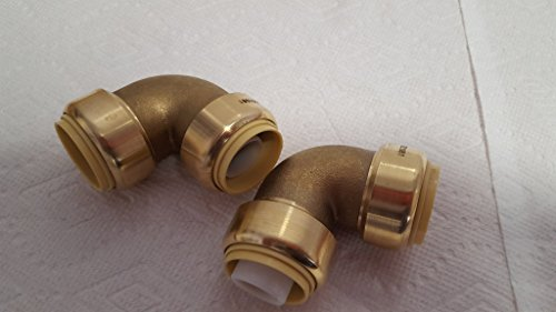 Push Fitting~3/4'' Elbow Bag of 10 Lead Free! by Badger Insulated Pipe