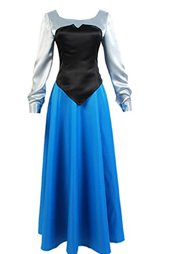 The Little Mermaid Princess Ariel Cosplay Costume Uniform Ball Gown Dress Small