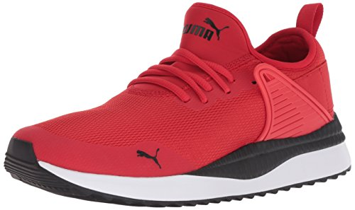 (PUMA Men's Pacer Next Cage Sneaker, high Risk red Black, 10 M US)