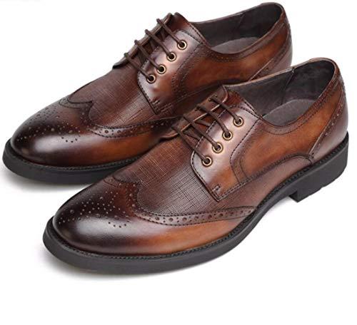 Casual Scarpe da Uomo Primavera Business Abbigliamento Formale Scarpe in Pelle Scarpe da Sposa Brown