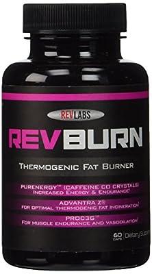 Rev Labs Revburn Thermogenic Fat Burner, 60 Count