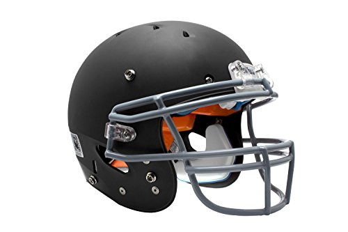 Schutt Sports 798004 Youth Recruit Hybrid Football Helmet  Faceguard Not Included   Black Matte Clear  Xx Small