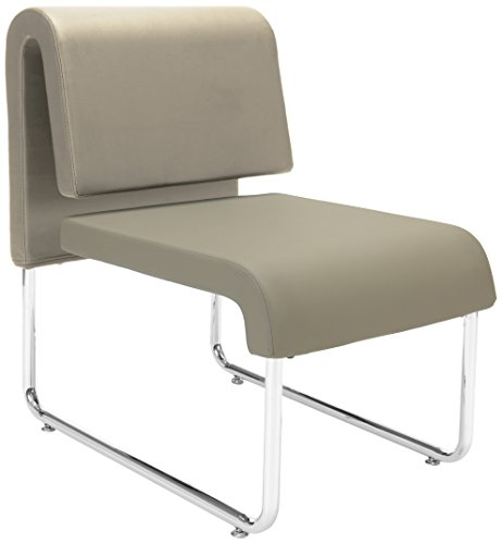OFM Uno Series Lounge Chair, Taupe/Taupe