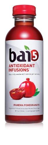 Bai5, 5 калорий Ipanema Гранат 100% натуральный антиоксидант Заряженный напитки, 18-унция (в упаковке 12)