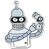 Futurama Bender Vynil Car Sticker Decal - Select Size