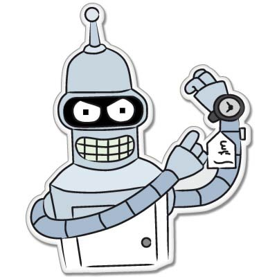 Futurama bender vynil car sticker decal select size