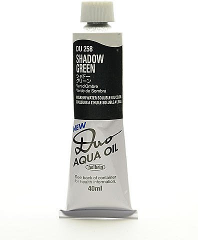 (Holbein Duo Aqua Artist Oil Color (Shadow Green) 1 pcs sku# 1845996MA)