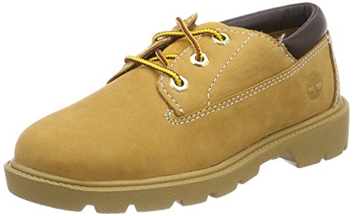 Timberland Unisex-Kinder Classic Oxfords Gelb (Wheat Nubuck 231)