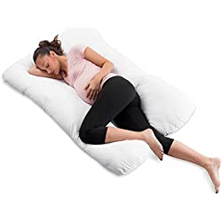 "ComfySure Pregnancy Pillow - 59"" U Shaped Full Body Pillow for Maternity Support or Side Sleepers - Hypoallergenic, Comfortable Cushion for Pregnant or Nursing Women, Supports Back, Hips, Legs & Belly"