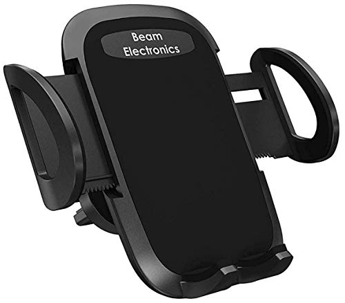 Beam Electronics Universal Smartphone Car Air Vent Mount Holder Cradle Compatible with iPhone Xs XS Max XR X 8 8+ 7 7+ SE 6s 6+ 6 5s 4 Samsung Galaxy S10 S9 S8 S7 S6 S5 S4 LG Nexus (Black)