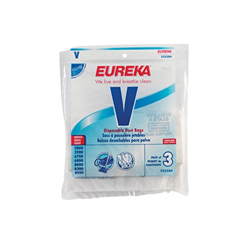 6 Disposable Dust Bags - Eureka 52358B-6 Disposable Dust Bags Type V 3 Count