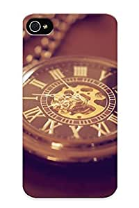 Ideal Trolleyscribe Case Cover For Iphone 4/4s(pocket Watch Time Clock Bokeh ), Protective Stylish Case