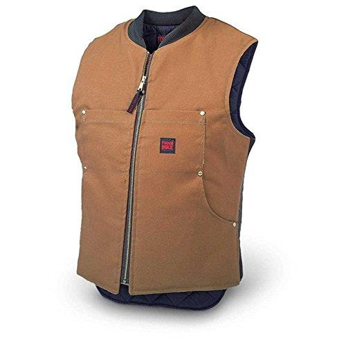 (Tough Duck Men's Quilt Lined Vest, Brown, Medium)