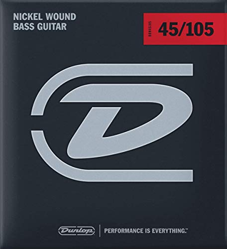 Dunlop DBN45105 Nickel Wound Bass Strings, Medium, .045-.105, 4 Strings/Set