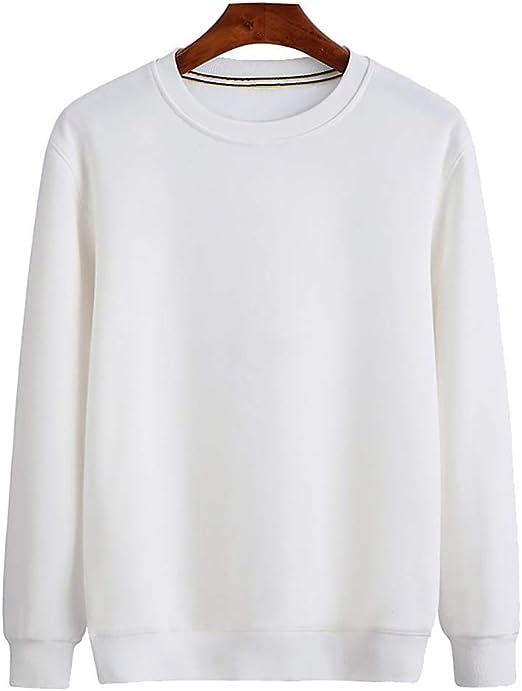 SYJH Sudaderas for Hombres y Mujeres, la Camiseta Blanca de ...