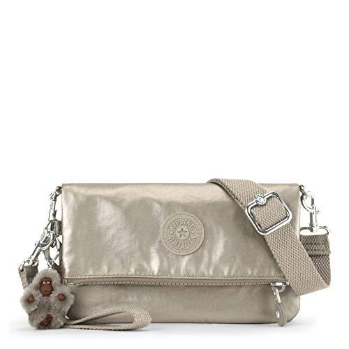 Kipling Lynne 3-in-1 Handbag, Metallic Pewter, Metallic Pewter - 1 Silver Handbag
