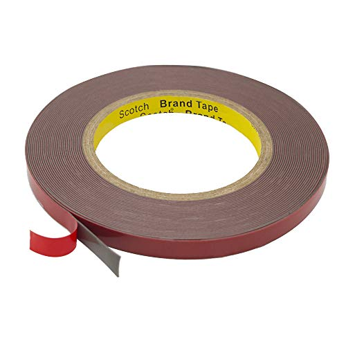 Double Sided Tape, HitLights Heavy Duty Mounting Tape 3M VHB Waterproof Foam Tape, 32ft Length, 10mm Width for LED Strip Lights, Home Decor, Office Decor ()
