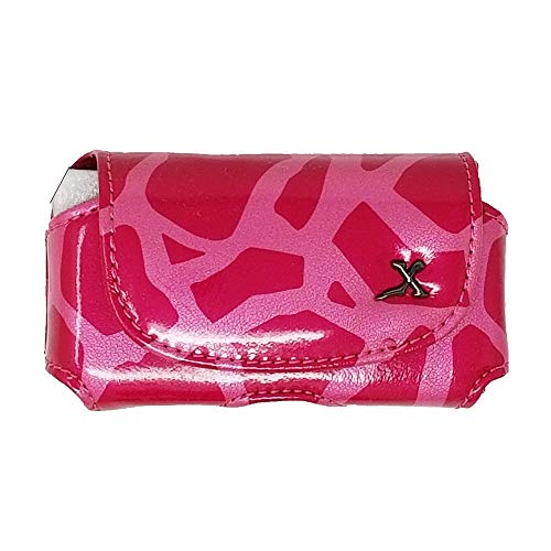- Giraffe Print Insulin Pump Carrying Case/Pouch with Belt Clip. (Pink, X-Large TR)