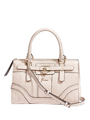 116e3f5cb1e8 GUESS Women s La Vida Logo Small Satchel Bag Handbag Tote (Nude ...
