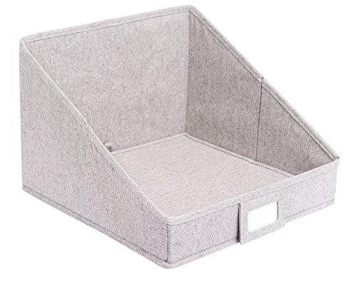 Internet's Best Open Cloth Storage Bin | Closet Shelf Storage Box | Organize Sheets Blankets Towels Sweaters Scarfs | Grey (1 Pack)