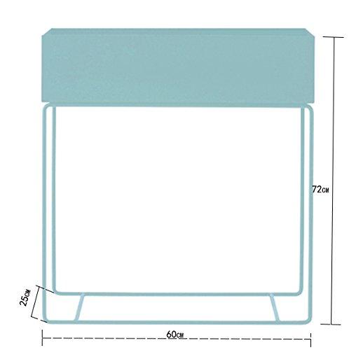 Modern simple floor flower pots shelf / indoor flower rack / shelves ( Color : Light green )