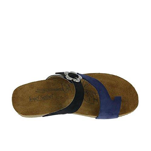 Josef Seibel Tonga 23, Sandalias con Plataforma para Mujer Bleu (Blau-Multi)