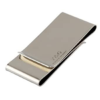 MC1041 Business- Casual Goods Silver Mirror Stainless Steel Triple Folding Money Clip Certificate Gentlemen By Y&G