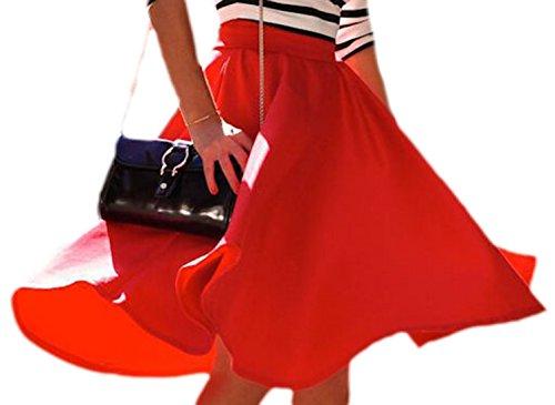 erdbeerloft - Falda - Opaco - para mujer Rojo
