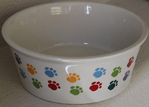 (Fido's Diner Stoneware Dog Dish - Large Dish 7.75