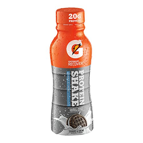 Gatorade Recover Protein Shake, Cookies & Cream , 11.16 Ounce Bottles (Pack of 12)