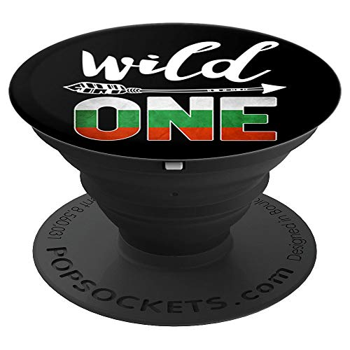Bulgaria Wild One Birthday Outfit 1 Bulgarian Flag - PopSockets Grip and Stand for Phones and Tablets ()