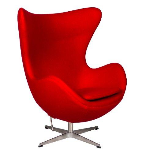 amazoncom leisuremod arne jacobsen egg chair in red wool kitchen dining arne jacobsen style egg