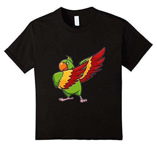 Black Bird Dance Costume (Kids Parrot T Shirt Funny Dabbing Dab Dance Parrot TShirt 8 Black)